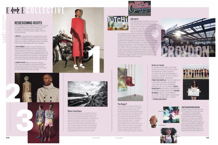 ELLE Work with Five LCF Fashion Media Students on June Print Edition