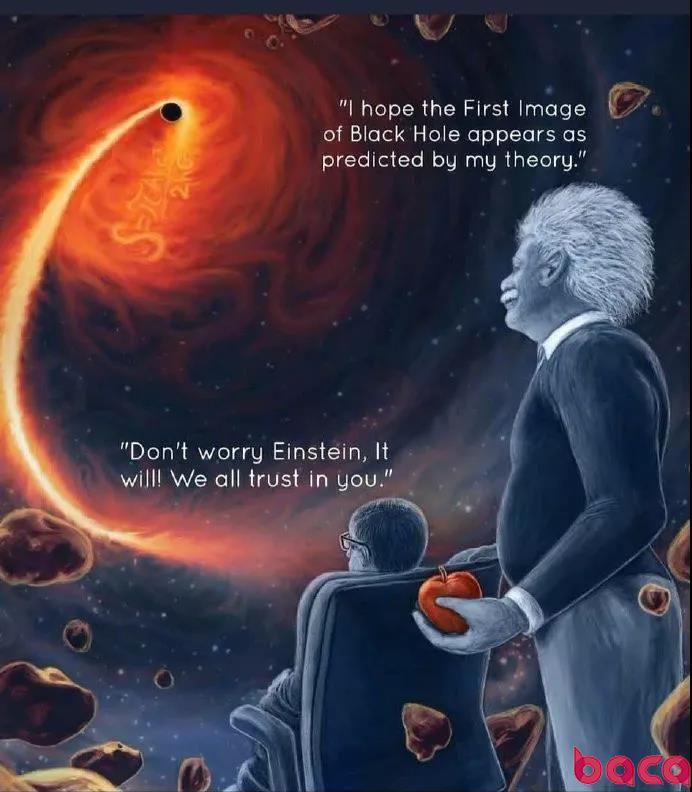 人类史上第一张黑洞照片 爱因斯坦霍金