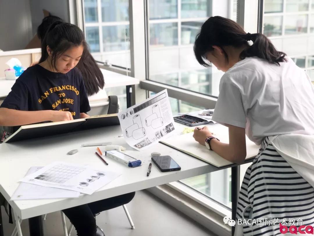 BACA国际艺术学校调研写生